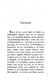 Studien im Gebiet der Heilwissenschaft: Band 2
