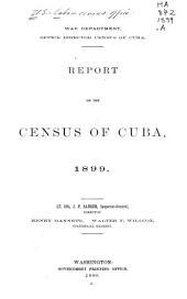Census of Cuba ...: Bulletin, Issue 1