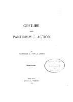 Gesture and Pantomimic Action PDF
