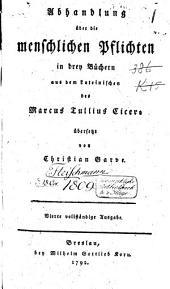 Abhandlung über die menschlichen Pflichten: in drey Büchern