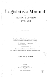 Manual of Legislative Practice in the General Assembly of Ohio