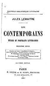 Les contemporains: études et portraits littéraires, Volume1