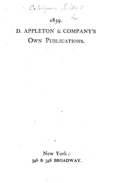 D Appleton Companys Own Publications 1859