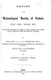 Annual Report - Entomological Society of Ontario: 1871-1876, Volumes 2-8