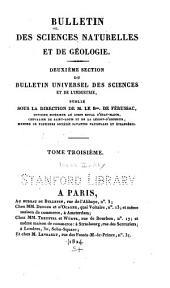Bulletin des sciences naturelles et de géologie: Volume3