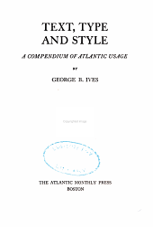 Text, Type and Style: A Compendium of Atlantic Usage