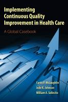 Implementing Continuous Quality Improvement in Health Care PDF
