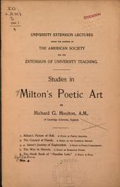 Studies in Milton's Poetic Art ...