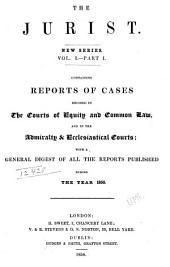 The Jurist: Volume 1, Part 1