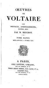 Oeuvres de Voltaire: Volume48