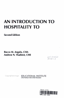 An Introduction to Hospitality Today PDF