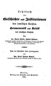 A. Fr. Just. Thibaut's Juristischer Nachlaß: Band 2