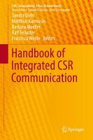 Handbook of Integrated CSR Communication PDF