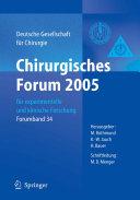 Chirurgisches Forum 2005 f  r experimentelle und klinische Forschung PDF