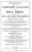 Hitchcock s New and Complete Analysis of the Holy Bible PDF