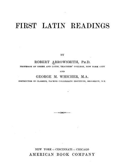 First Latin Readings PDF