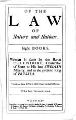 Of the law of nature and nations ... Translated into English [by Basil Kennet and others] ... With a short introduction