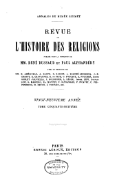 Revue de l'histoire des religions: Volume58