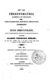 Chrestomathia rabbinica et chaldaica cum notis grammaticis, historicis, theologicis: 3.2: Complectens glossarium et lexicon abbreviaturarum. Lexicon abbreviaturarum