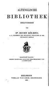 Altenglische bibliothek: bd. Osbern Bokenam's legenden