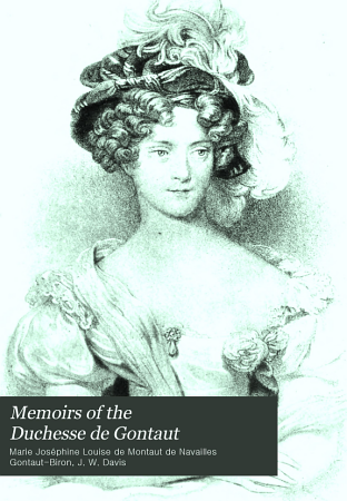Memoirs of the Duchesse de Gontaut PDF