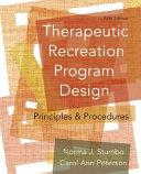Therapeutic Recreation Program Design PDF