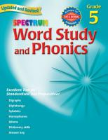 Word Study And Phonics Grade 5