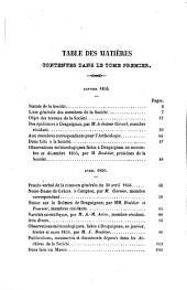Bulletin de la Société d'Etudes Scientifiques et Archéologiques de la Ville de Draguignan: Volume1