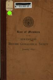 List of Members of the New-England Historic Genealogical Society, 1893