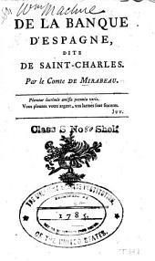 De la banque d'Espagne: dite de Saint-Charles