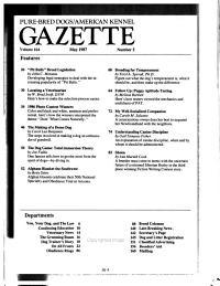 Pure bred Dogs  American Kennel Gazette PDF