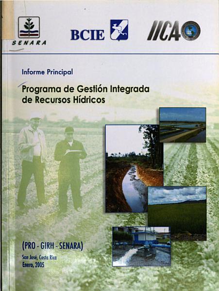 Informe Principal Programa De Gestion Integrada De Recursos Hidricos