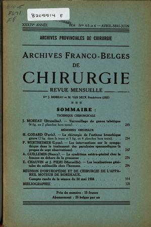 Archives Franco Belges De Chirurgie