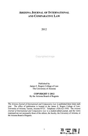Arizona Journal of International and Comparative Law PDF
