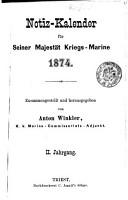 Notiz Kalender f  r Seiner Majest  t Kriegs Marine PDF