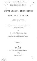 Imperatoris Iustiniani Institutionum Libri Quattuor PDF