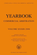Yearbook Commercial Arbitration Vol XXXIII 2008