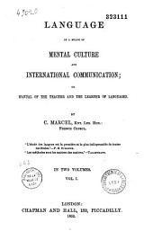 Language as a means of mental culture and international communication...