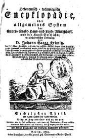 Oekonomische encyklopädie: Band 60