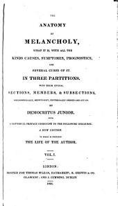 The anatomy of melancholy, by Democritus iunior