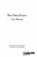 Blue Mesa Review PDF