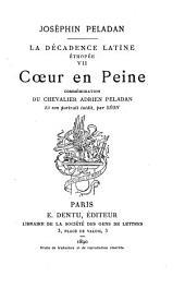Coeur en peine: commémoration du chevalier Adrien Peladan