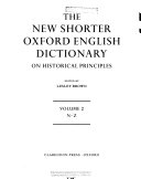 The New Shorter Oxford English Dictionary PDF