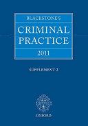 Blackstone's Criminal Practice 2011 Supplement 2