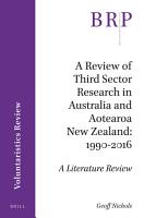 A Review of Third Sector Research in Australia and Aotearoa New Zealand  1990 2016 PDF