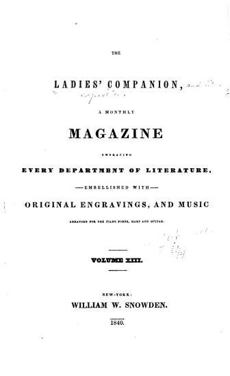 Ladies Companion and Literary Expositor PDF