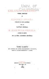 Orlando Furioso: poema heroico, Volumen 4