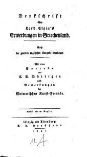 Denkschrift über Lord Elgin's Erwerbungen in Griechenland