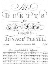 Six duetts for two violins: op. 18
