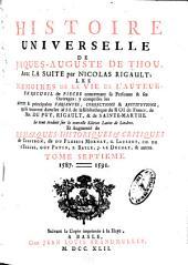 Histoire universelle de Jacques Auguste de Thou: Volume7